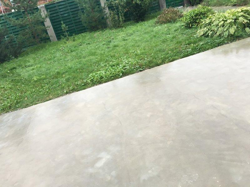 Восстановление разрушающейся бетонной дорожки лаком полиуретановым ПОЛИУРЛАК