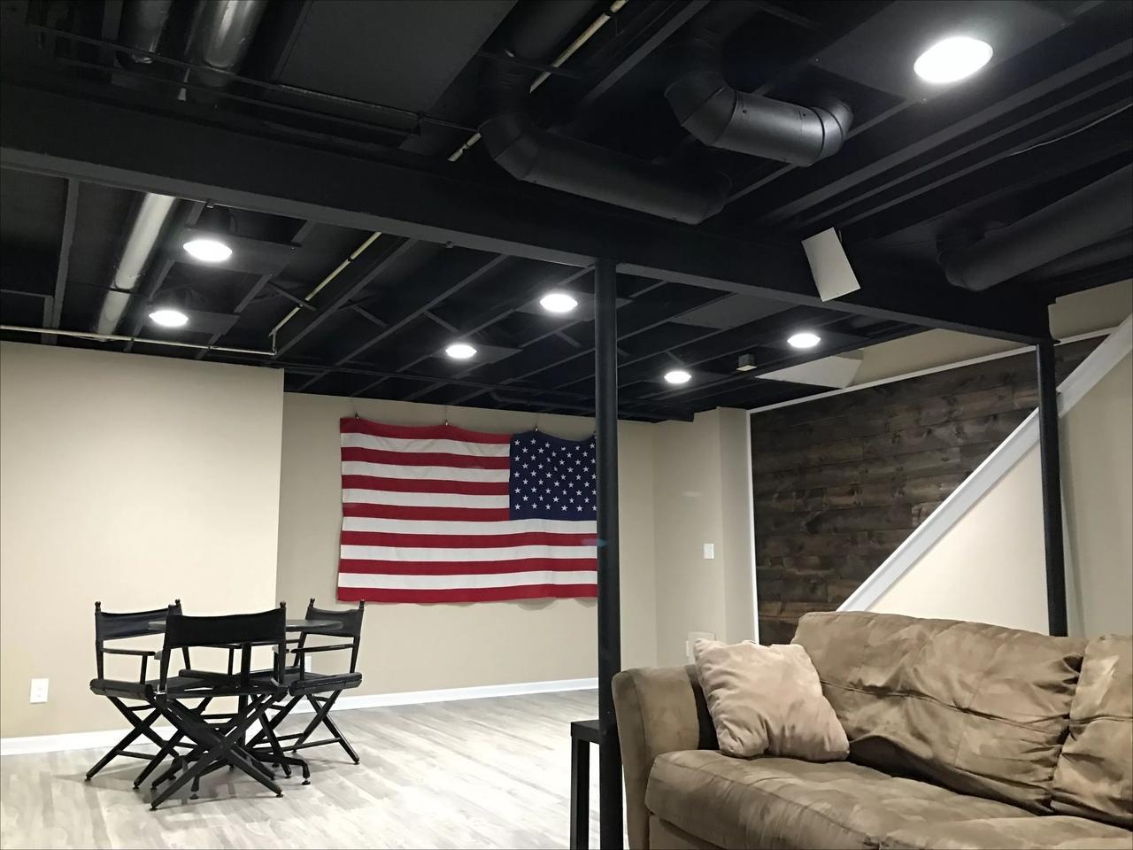 Чёрная краска для бетонных потолков