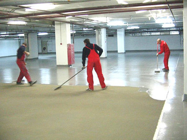 Быстросохнущий полиуретановый лак для бетона мастика от иринки - сахаринки