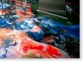 Бизнес-полы, 3D покрытия, пурнапол наливной флуоресцирующий полиуретановый пол